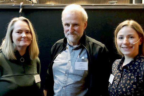 Ann Karin Kjeldsand, Fred Mürer og Christine Walnum på Pasientsikkerhetskonferansen 2020 i Tromsø.