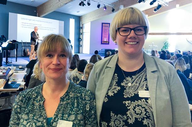 F.v. Marit Bergh, rådgiver Samhandlingsavdeling, UNN og Mona Pedersen fra KomUt Nord