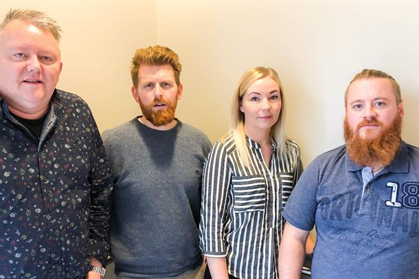F.v.: Dag Christian Johansen, NSF, Nils Petter Rundhaug, DNLF, Anja Sjåvik, Delta og Anders Ringkjøb, Fagforbundet